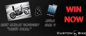 Custom-Bike.com's 2007 Harley Davidson White Pearl and iPad 4 Contest Sweepstakes