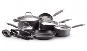 Farberware 13-Piece Cookware Set with Utensils, Saucepans, Stockpot, and Skillets