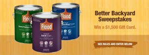Flood Wood Care Better Backyard Sweepstakes & Instant Win Game