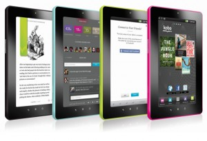 Kobo VOX 7 inch Touchscreen eBook Tablet w Android OS 2.3, Built-in Wi-Fi, & Bonus Case-Available in 4 Colors