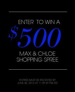 Max & Chloe $500 Shopping Spree Spring Sweepstakes