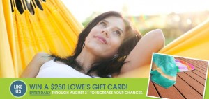 ChoiceDek $250 Lowe's Gift Card Sweepstakes