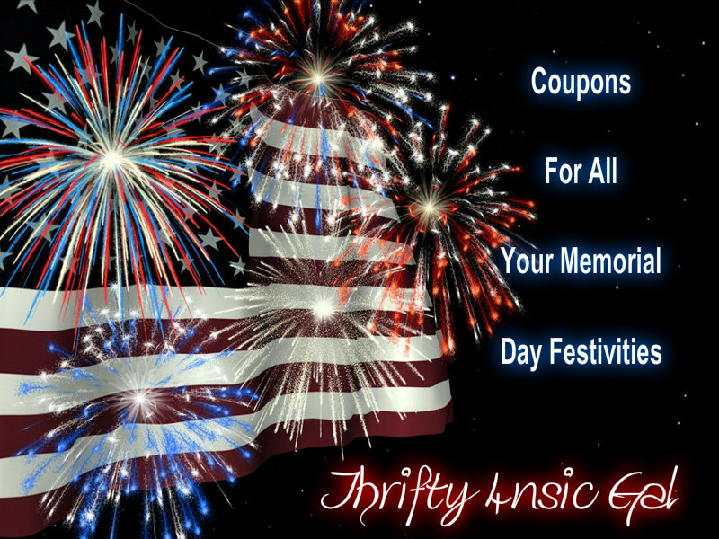 Coupons for ALL your Memorial Day Needs