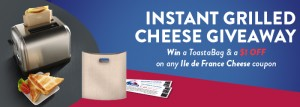 Ile de France Cheese Grilled Cheese Giveaway