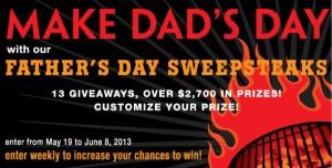Kansas City Steak Father's Day Sweepsteaks