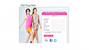 Bloomingdale's $2,000 Shopping Spree Sweepstakes