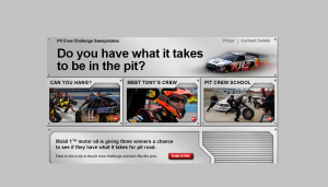 Exxon Mobil – Pit Crew Challenge Sweepstakes