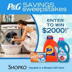 P&G Savings Sweepstakes