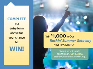 Western Federal Credit Union Rockin' Summer Getaway Sweepstakes