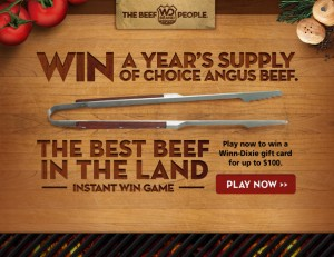Winn-Dixie – The Beef People-Best Beef in the Land Click and Match Instant Win Game & Sweepstakes