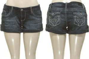 YMI Cuffed Denim Shorts