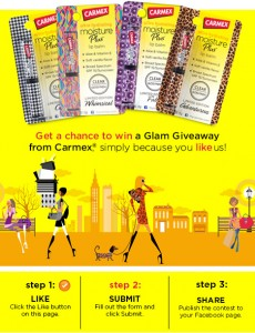 Carmex Glam Giveaway Sweepstakes