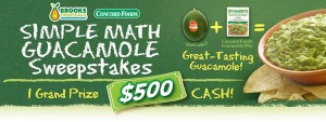 Concord Foods 'Skinny Guacamole' Sweepstakes