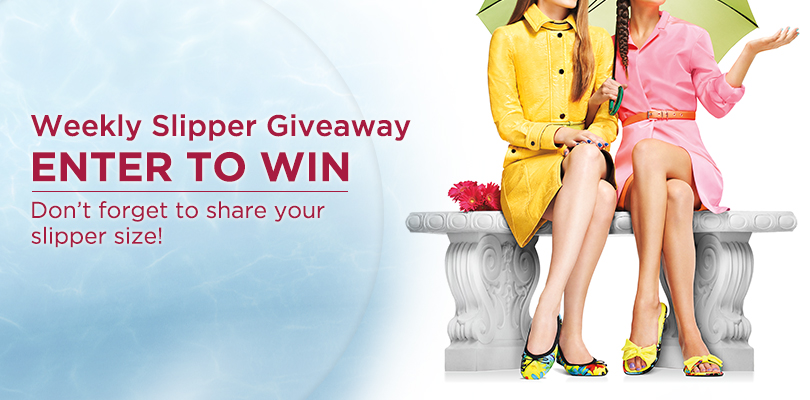 Dearfoams Weekly Slipper Giveaway ends 6/26/14