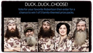 Duck Duck Choose - Duck Dynasty Sweepstakes