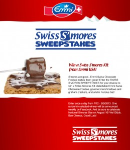 Emmi Swiss S'mores Sweepstakes