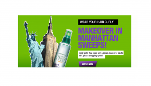 Garnier L'Oreal Wear Your Hair Curly Spree in NYC Sweepstakes