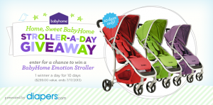 Home Sweet, Babyhome Stroller-A-Day Giveaway