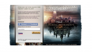 Michaels Stores The Mortal Instruments - City of Bones Sweepstakes and Instant Win Game