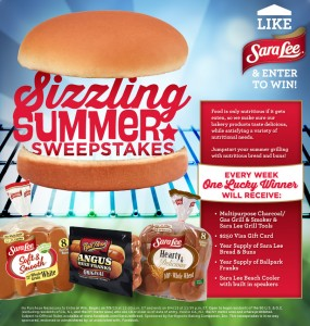Sara Lee Sizzling Summer Sweepstakes