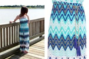 Zigzag Lace Maxi Dress