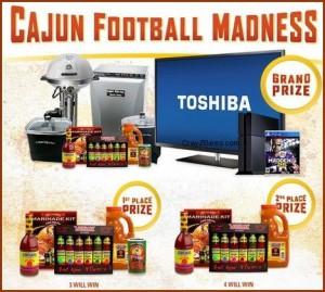 Cajun Injector, Louisiana Hot Sauce CAJUN FOOTBALL MADNESS Giveaway