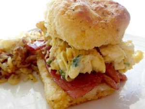 Cookmore - Herb Scrambled Eggs & Country Ham Biscuits
