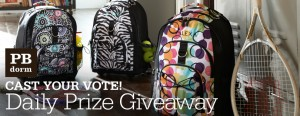 Pottery Barn Dorm PBdorm Cast Your Vote! Daily Prize Sweepstakes