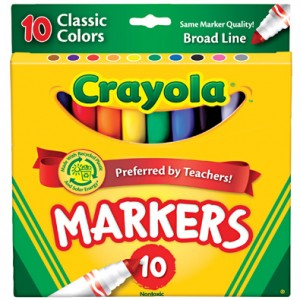 Free 10 pack of Crayola Markers