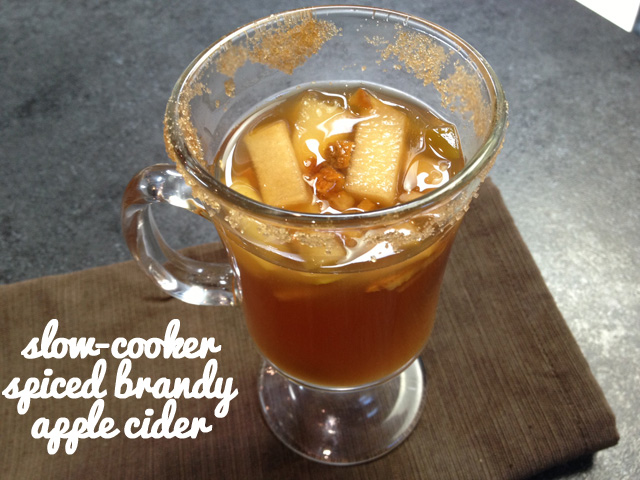Slow-cooker Spiced Brandy Apple Cider
