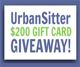 Urban Sitter $200 Gift Card Giveaway
