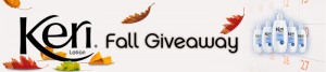 KERI LOTION FALL GIVEAWAY & Instant Win Game
