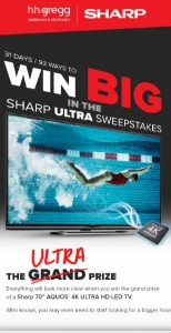 h.h. gregg Sharp ULTRA Sweepstakes