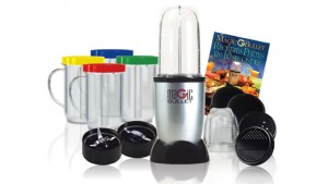 As-Seen-on-TV  - Magic Bullet 17-Piece Express Mixing Set with Recipe Book, Tall Cup, Short Cup, 4 Mugs, & Lids