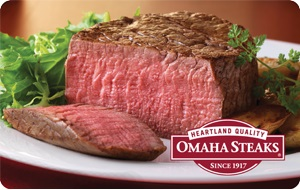 Enter to Win a $100 Omaha Steaks Gift Card ends 11/25