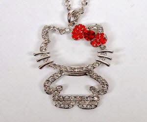 GET A FREE HELLO KITTY RUBY ACCENT NECKLACE FREE