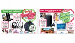 Meijer Thanksgiving and Black Friday Deals