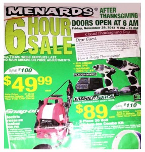 Menards Black Friday Deals