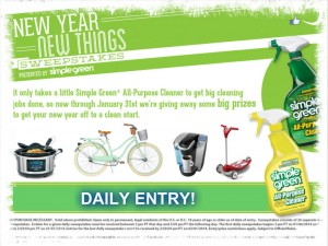 Simple Green New Year,New Things Sweepstakes