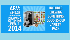 Win a Mr. Coffee Single-Serve Coffee Brewer with 'Brew Something Good' 35-Count Variety Pack