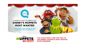 QVC Sweepstakes Celebrating Disney's Muppets Most Wanted Instant Win Game1