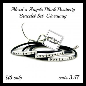 Alexa's Angels Black Positivity Bracelet Set Giveaway