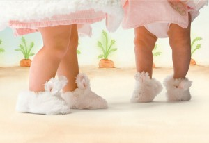 Bunnies By The Bay Cuddle Toe Slippers