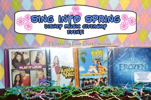 Sing into Spring #Disney Music Gift Bag Giveaway