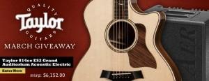 Taylor 814ce ES2 Grand Auditorium Acoustic Electric March Giveaway
