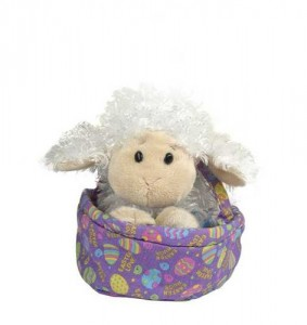 Webkinz Lamb in Easter Basket Plush
