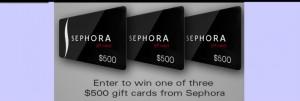 Enter to WIN a $500 Sephora Gift Card