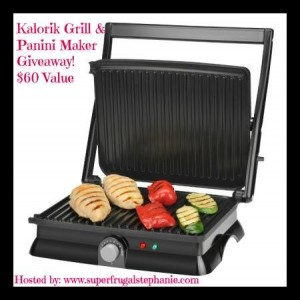 Kalorik Grill and Panini Maker Giveaway $60 Value