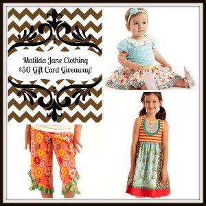 Matilda Jane Clothing $50 Gift Card Giveaway ends 4/4
