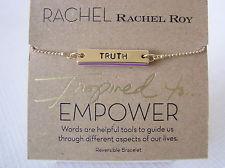 RACHEL Rachel Roy Gold-Tone 'Truth' Bar Pendant Bracelet